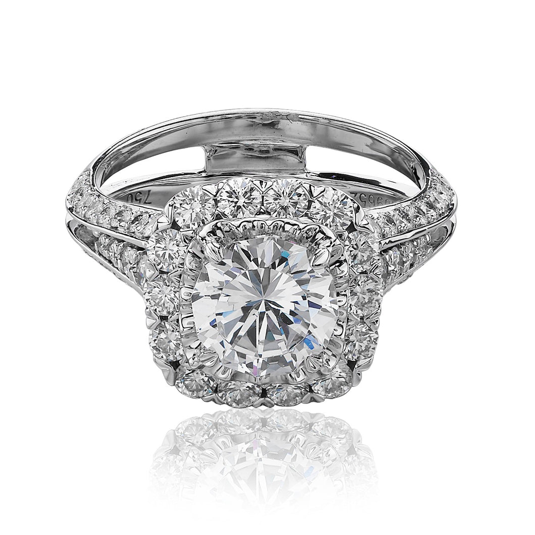 Christopher Designs Crisscut Engagement Ring (1.00 CTW)