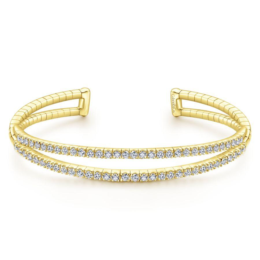 Gabriel & Co. Demure Yellow Gold Bracelet (1.41 CTW)