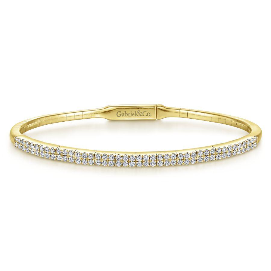 Gabriel & Co. Demure Yellow Gold Bracelet (0.74 CTW)
