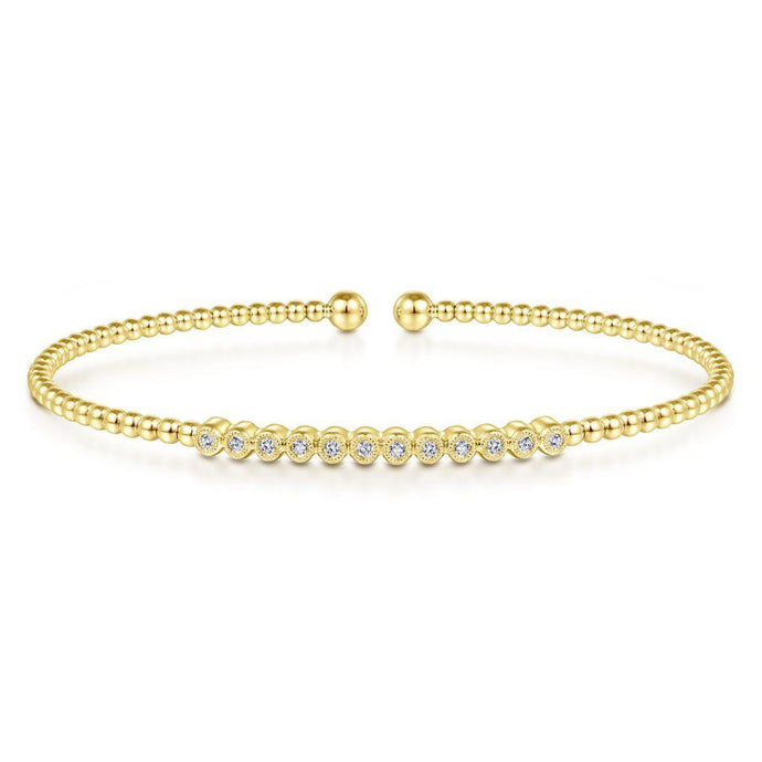 Gabriel & Co. Bujukan Yellow Gold Bracelet (0.15 CTW)