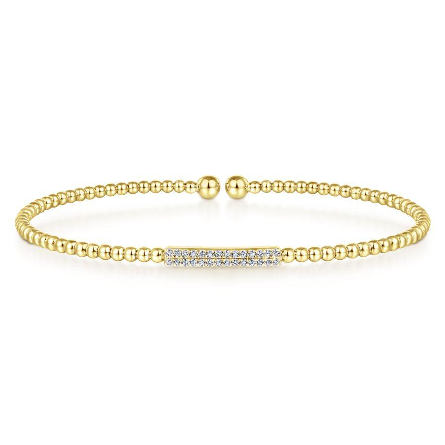 Gabriel & Co. Bujukan Yellow Gold Bracelet (0.14 CTW)