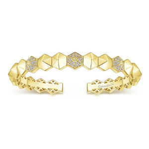 Gabriel & Co. Demure Yellow Gold Bracelet (0.27 CTW)