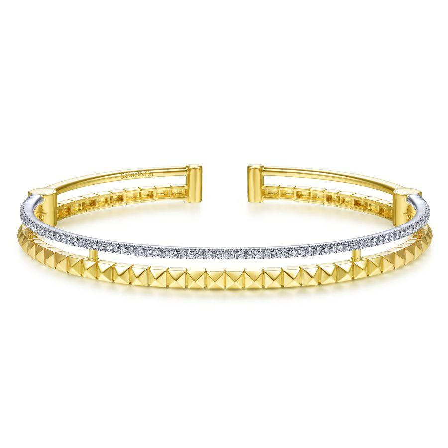 Gabriel & Co. Contemporary Yellow Gold Bracelet (0.42 CTW)