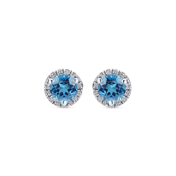 Gabriel & Co. Lusso Color White Gold Earrings (0.07 CTW)