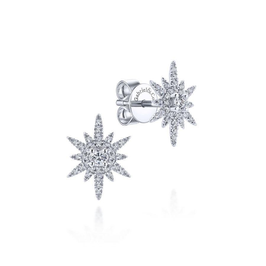 Gabriel & Co. Kaslique White Gold Earrings (0.39 CTW)