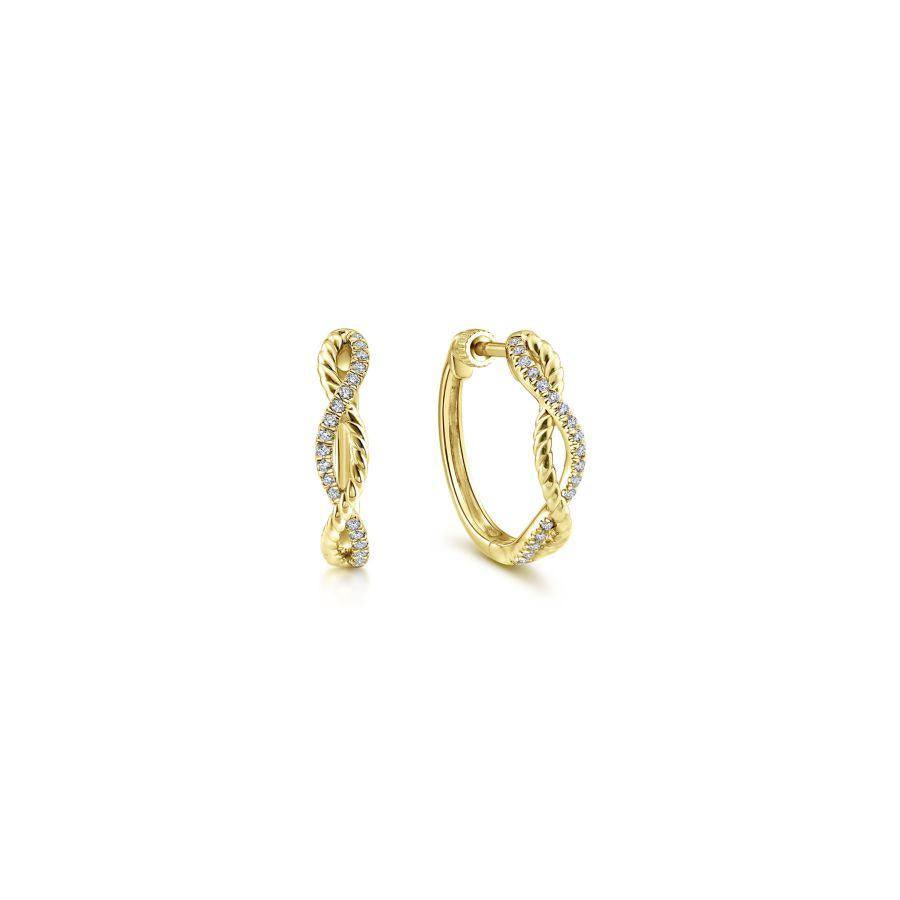 Gabriel & Co. Hampton Yellow Gold Earrings (0.11 CTW)