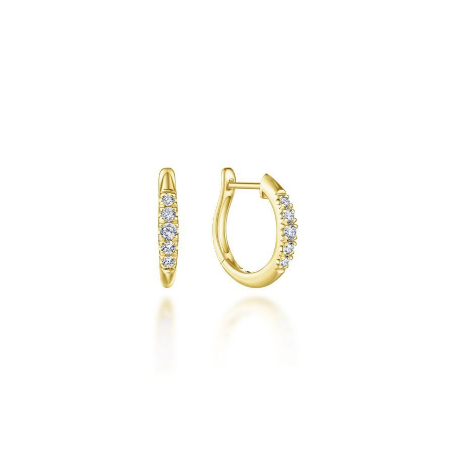 Gabriel & Co. Lusso Yellow Gold Earrings (0.22 CTW)