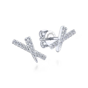 Gabriel & Co. Kaslique White Gold Earrings (0.15 CTW)