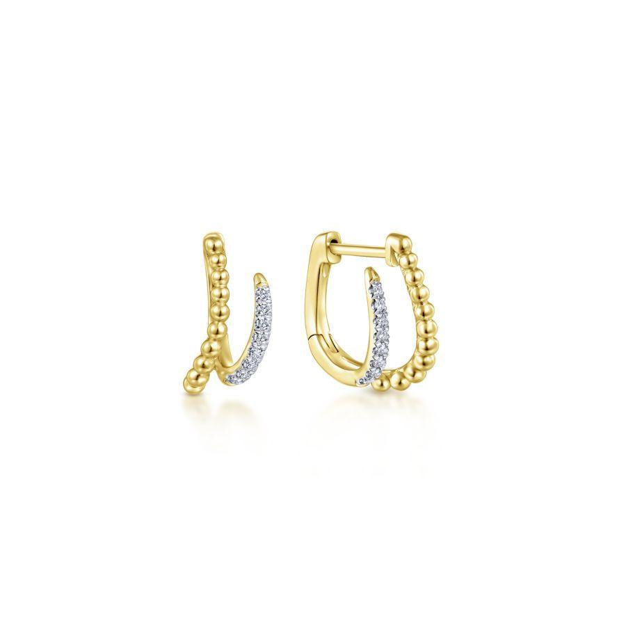 Gabriel & Co. Bujukan Yellow Gold Earrings (0.1 CTW)