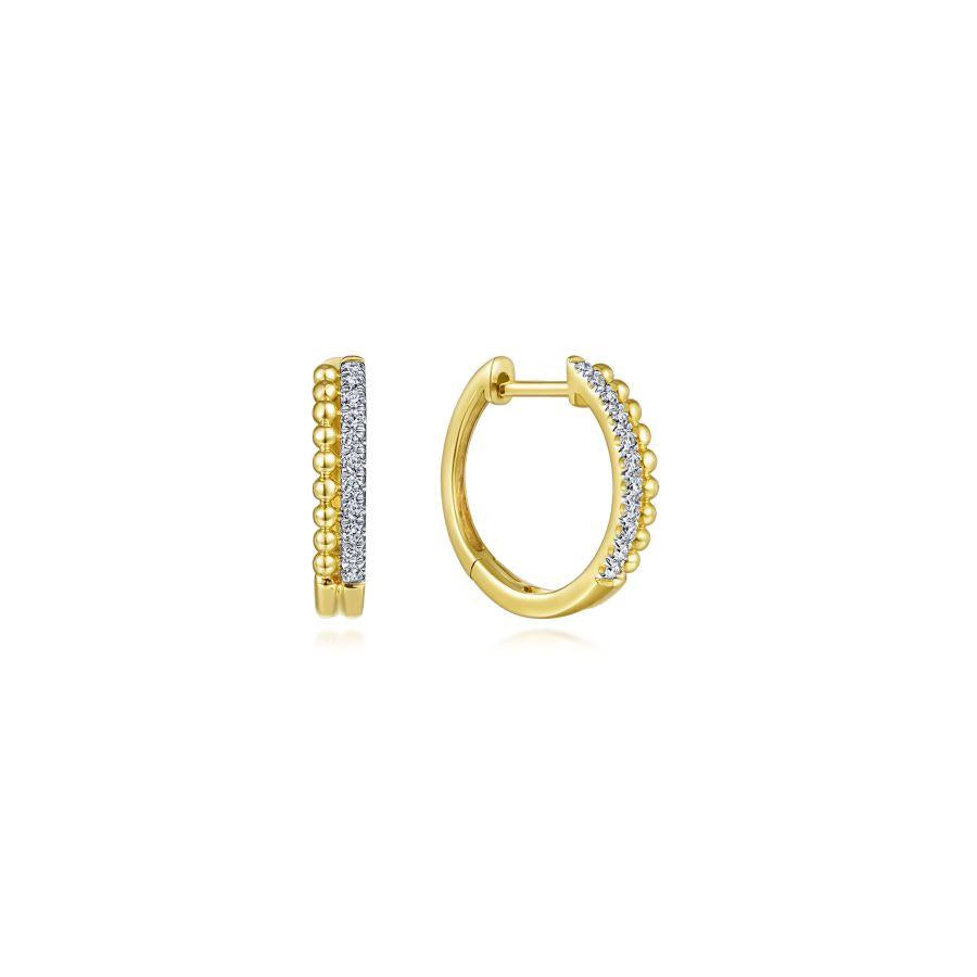 Gabriel & Co. Bujukan Yellow Gold Earrings (0.11 CTW)
