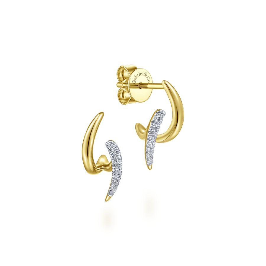 Gabriel & Co. Trends Yellow Gold Earrings (0.09 CTW)