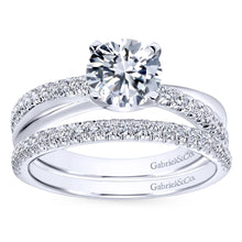 Load image into Gallery viewer, Gabriel Contemporary Collection White Gold Twisted Engagement Ring (0.19 CTW)
