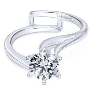 Gabriel Bridal Collection White Gold Bypass Engagement Ring (0 ctw)