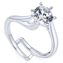 Load image into Gallery viewer, Gabriel Bridal Collection White Gold Bypass Engagement Ring (0 ctw)