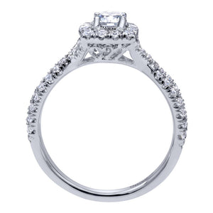 Gabriel Bridal Collection White Gold Halo Engagement Ring (0.5 ctw)