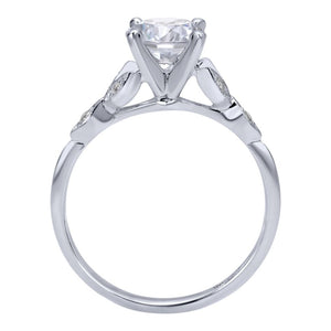 Gabriel Bridal Collection White Gold Straight Engagement Ring (0.08 ctw)