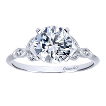 Load image into Gallery viewer, Gabriel Bridal Collection White Gold Straight Engagement Ring (0.08 ctw)