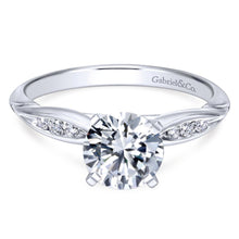 Load image into Gallery viewer, Gabriel Bridal Collection White Gold Straight Engagement Ring (0.1 ctw)