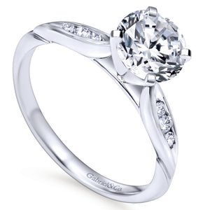 Gabriel Bridal Collection White Gold Straight Engagement Ring (0.1 ctw)