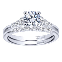 Load image into Gallery viewer, Gabriel Bridal Collection White Gold Straight Engagement Ring (0.25 ctw)