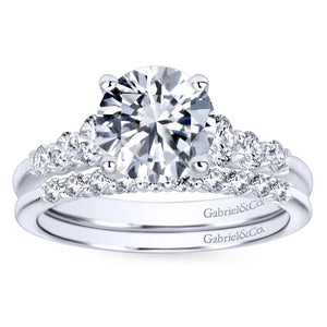 Gabriel Bridal Collection White Gold Trellis Setting Diamond Straight Engagement Ring (0.5 ctw)
