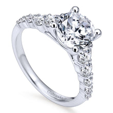 Load image into Gallery viewer, Gabriel Bridal Collection White Gold Straight Engagement Ring (0.75 ctw)
