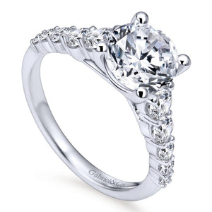 Gabriel Bridal Collection White Gold Straight Engagement Ring (0.75 ctw)