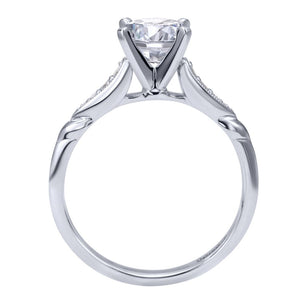 Gabriel Bridal Collection White Gold Straight Engagement Ring (0.09 ctw)