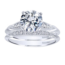 Load image into Gallery viewer, Gabriel Bridal Collection White Gold Straight Engagement Ring (0.09 ctw)