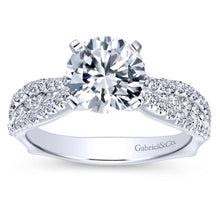Load image into Gallery viewer, Gabriel Bridal Collection White Gold Straight Engagement Ring (0.53 ctw)