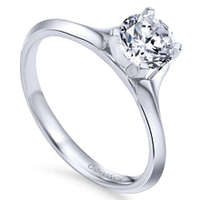 Load image into Gallery viewer, Gabriel Bridal Collection White Gold Solitaire Rounded Cathedral Engagement Ring (0 ctw)