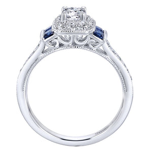 Gabriel Bridal Collection White Gold Halo Engagement Ring (0.32 ctw)