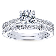Load image into Gallery viewer, Gabriel Bridal Collection White Gold Diamond Diamond Accent Straight Engagement Ring with Cathedral Setting (0.28 ctw)