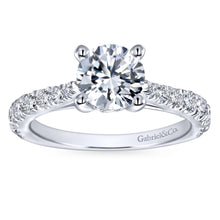 Load image into Gallery viewer, Gabriel Bridal Collection White Gold Diamond Diamond Accent Straight Engagement Ring with Four Prong Setting (0.56 ctw)
