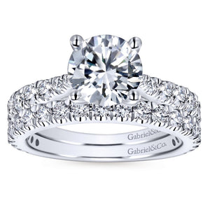 Gabriel Bridal Collection White Gold Diamond Diamond Accent Straight Engagement Ring (0.81 ctw)