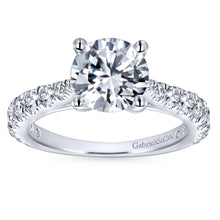 Load image into Gallery viewer, Gabriel Bridal Collection White Gold Diamond Diamond Accent Straight Engagement Ring (0.81 ctw)