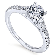 Load image into Gallery viewer, Gabriel Contemporary Collection White Gold Straight Engagement Ring (0.28 CTW)