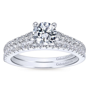 Gabriel Contemporary Collection White Gold Straight Engagement Ring (0.28 CTW)