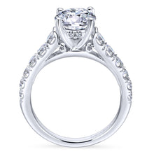 Load image into Gallery viewer, Gabriel Bridal Collection White Gold Diamond Straight Four Prong Setting Engagement Ring (0.81 ctw)