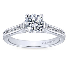 Load image into Gallery viewer, Gabriel Bridal Collection White Gold Diamond Straight Channel Engagement Ring (0.25 ctw)