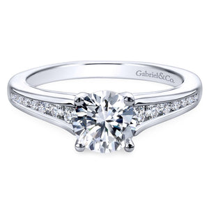 Gabriel Bridal Collection White Gold Diamond Straight Channel Set Engagement Ring (0.29 ctw)