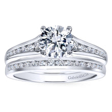 Load image into Gallery viewer, Gabriel Bridal Collection White Gold Diamond Straight Channel Set Engagement Ring (0.29 ctw)