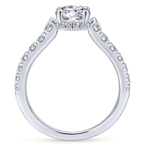Gabriel Bridal Collection White Gold Engagement Ring with Contemporary Gold Accents (0.55 ctw)