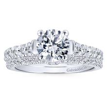 Load image into Gallery viewer, Gabriel Bridal Collection White Gold Engagement Ring with Contemporary Gold Accents (0.55 ctw)