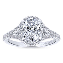 Load image into Gallery viewer, Gabriel Bridal Collection White Gold Halo Engagement Ring (0.4946 ctw)