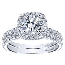 Load image into Gallery viewer, Gabriel Bridal Collection White Gold Halo Engagement Ring (0.42 ctw)