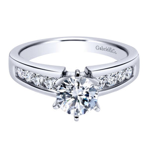 Gabriel Bridal Collection White Gold Straight Engagement Ring (0.41 ctw)