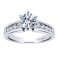 Load image into Gallery viewer, Gabriel Bridal Collection White Gold Straight Engagement Ring (0.41 ctw)