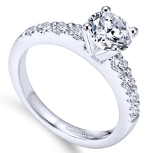 Load image into Gallery viewer, Gabriel Bridal Collection White Gold Straight Engagement Ring (0.4 ctw)