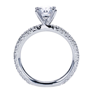 Gabriel Bridal Collection White Gold Straight Engagement Ring (0.42 ctw)